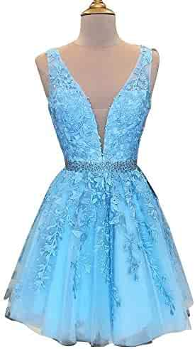 53ee9e844 Abaowedding Women's Wedding Dress for Bride Lace Applique Evening Dress V  Neck Straps Ball Gowns