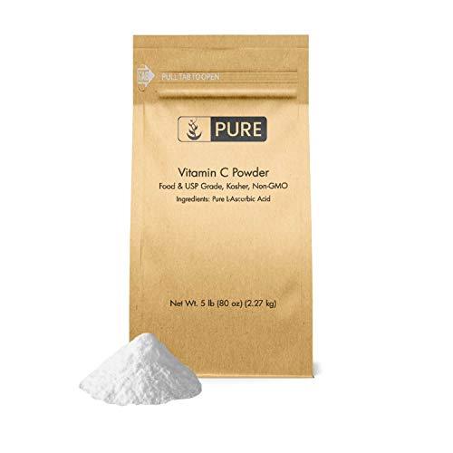 (Vitamin C Powder (5 lb.) by Pure Organic Ingredients, Eco-Friendly Packaging, L-Ascorbic Acid, Antioxidant, Boost Immune System, DIY Skin Care)
