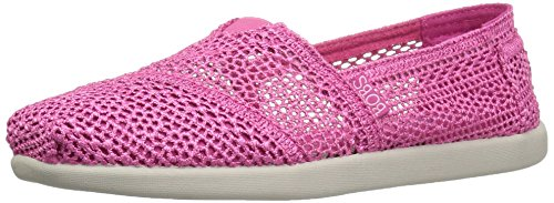BOBS from Skechers Women's Bobs World-Daisy and Dot Flat, Hot Pink, 8.5 M US