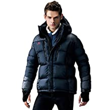 Fuerza Mens Winter Premium White Duck Down Hooded Parka Jacket