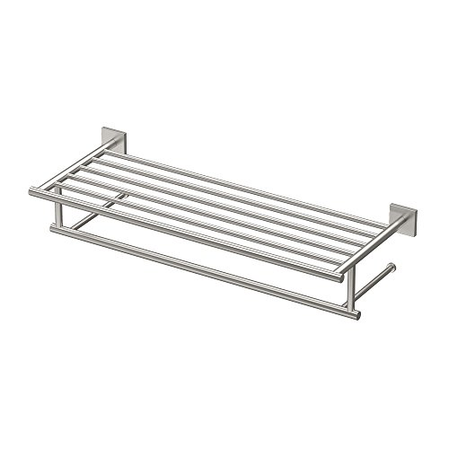 "Gatco 4077 Elevate Minimalist Spa Rack 26"" Satin Nickel"