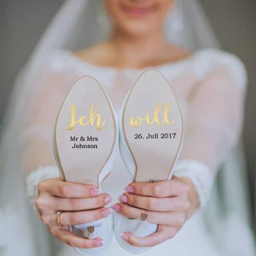 Schuhaufkleber Hochzeit