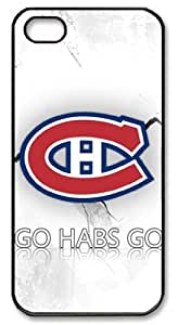 LZHCASE Personalized Protective Case for iPhone 5 - NHL Montreal Canadiens Go Habs Go