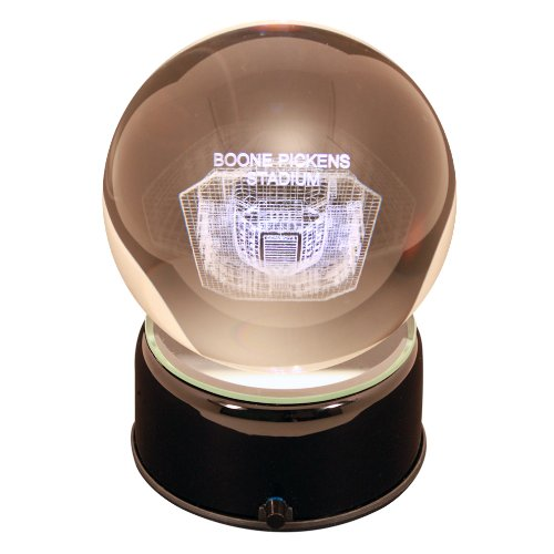 - NCAA Oklahoma State Cowboys Boone Pickens Stadium Cowboys Etched Lit Musical Turning Crystal Ball