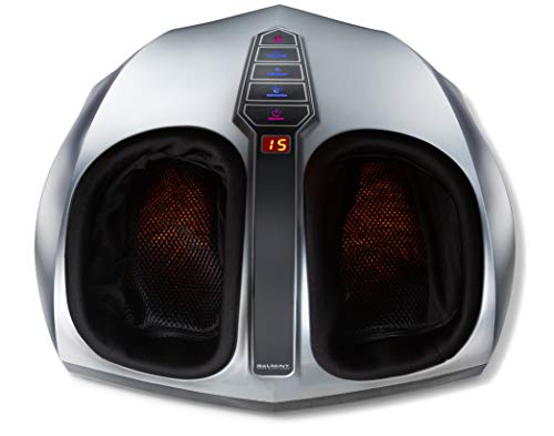 Belmint Shiatsu Foot Massager with Heat - Air Compression Deep Kneading Foot Massage Machine to Improve Blood Circulation | Electric Massager to Relieve Pain from Plantar Fasciitis (Schlemmer Foot Massager Hammacher)