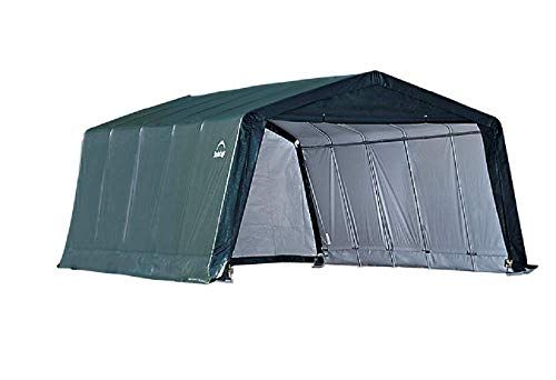 (ShelterLogic Replacement Cover Kit 12x20x8 Peak Green 90516 for models 62691,62791,62678 (7.5oz Green))