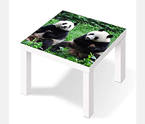 Möbelaufkleber para Ikea Laca Mesa 55x55cm Pandas Osos Panda ...