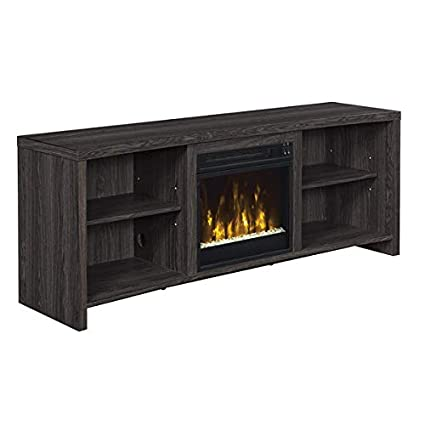 amazon com huntington electric fireplace tv stand in black walnut rh amazon com walnut electric fireplaces walnut finish electric fireplace