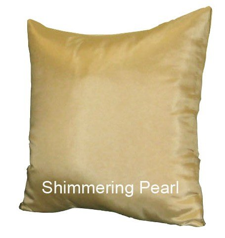 Shopping The Globe 1 Thai Silk Look 17''x17'' Throw Pillow - Shimmering Pearl by Shopping The Globe
