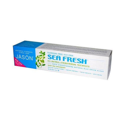 Pack of 5 x Jason Sea Fresh - All Natural Sea-Sourced Toothpaste Deep Sea Spearmint - 6 oz by Jason Natural Products ()