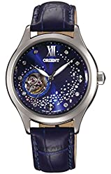 "ORIENT Fashionable Automatic ""Blue Moon"" Blue Leather Watch DB0A009D"