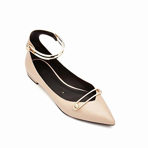 Plat Simple Femmes' 'Mot Peu Chaussures Les des Simples de Chaussures Bouche avec UNE S SED Printemps Femmes Et D'Été Profonde Chaussures Plat Boucle YTwnxOPq