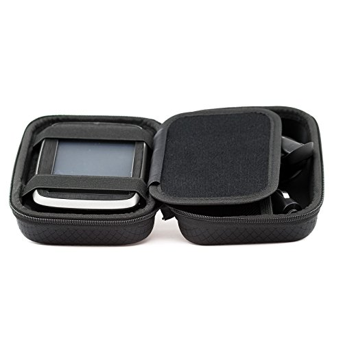 Digicharge Hard Carrying Case Tomtom Via 1425 1525 M SE 1425M 1525M 1525TM Go 52 Go 520 5200 Rider 500 550 Trucker 550 5-inch GPS Accessory Storage Lanyard - Black by Digicharge (Image #3)