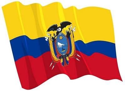 Autoaufkleber Sticker Fahne Ecuador wehend Flagge Aufkleber