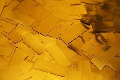Gold Metallic Confetti by Ultimate Confetti - 1 lb