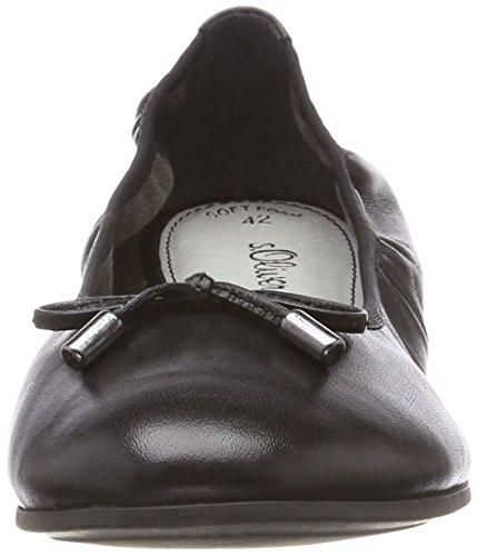 s.Oliver 22112 - bailarinas cerradas de cuero mujer Negro (Black Nappa)