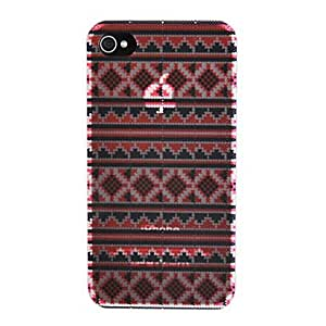 Pink Stripe Pattern Back Case for iPhone 4/4S