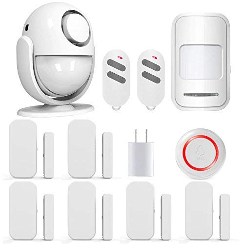 PANNOVO Wireless Home Security Alarm System Door Alarm System for Home DIY Kit,Supports Amazon Alexa, App Control by iOS Andrioid Smartphone with PIR Motion Sensor,Door Contact Sensor, White (Best Self Monitored Home Security)