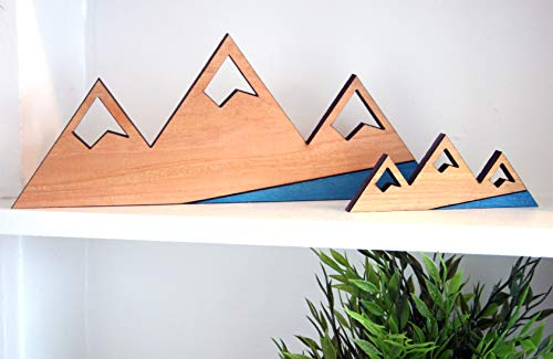 Rustic Rough Cut Cedar Mountain Wood Cutout - 11.5