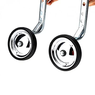 Little World Training Wheels Heavy Duty Rear Wheel Bicycle Mounted Compatible for Bikes of 14 16 18 20 Inch, 1 Pair