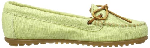 Canvas Women's Green Lime Moccasin Minnetonka qYUvg