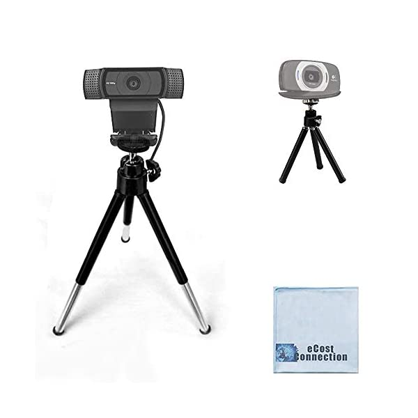 eCostConnection 7 Extendable Mini Tripod for Logitech Webcams C920 C922 and Other Small Cameras