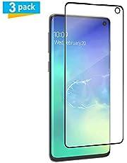 AMNIE [3 Stück Panzerglas Schutzfolie für Samsung Galaxy S10, HD, Kratzer, Anti-Öl,9H Härte, Blasen und Fingerabdruck, Einfaches Anbringen, Displayschutzfolie für Samsung Galaxy S10 - Schwarz