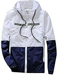 Generic Mens Casual Spell Color Sun Protection Slim Jacket