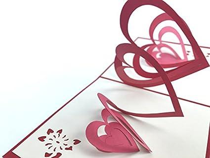 Amor 3d Pop Up Tarjeta de felicitación hecha a mano feliz cumpleaños aniversario de boda amistad feliz Navidad de Acción de Gracias Gracias mejor ...