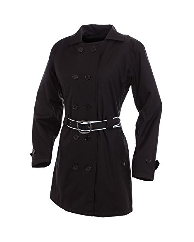 Corazzo Women's Turiste Trench Coat (Black, Large)
