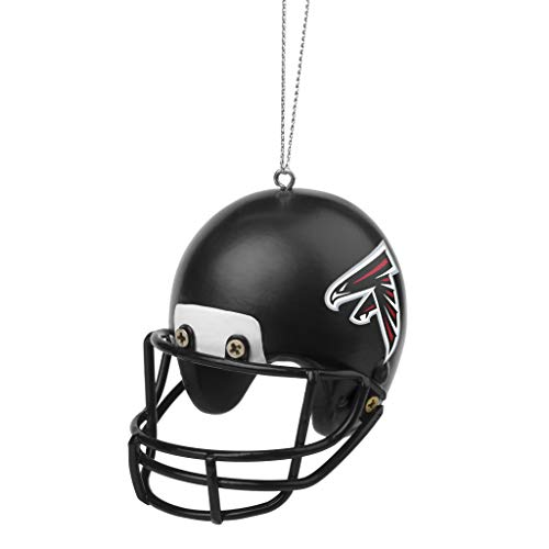 FOCO NFL Atlanta Falcons Team Logo Holiday Christmas Resin Football Helmet OrnamentTeam Logo Holiday Christmas Resin Football Helmet Ornament, Team Color, One Size (Falcons Ornaments Christmas Atlanta)