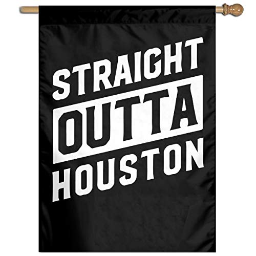 Straight Outta Houston Welcome Yard Garden Flag Polyester Banners Patio Seasonal Holiday Family Flag Decorative House Yard Flag Garden Outdoor Decoration 27