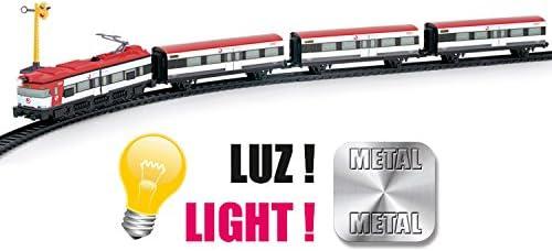 PEQUETREN Pequetren675Classique Renfe métallique Modèle Train avec lumière et Station