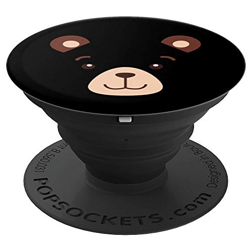 Bear Face Halloween Costume Design Kids Boy Girl Adult Gift - PopSockets Grip and Stand for Phones and Tablets ()