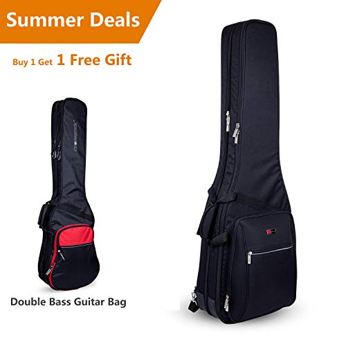 Crossrock CRDG105DBBK Case Deluxe Double 2 x Bass Guitar Gig Bag, Black