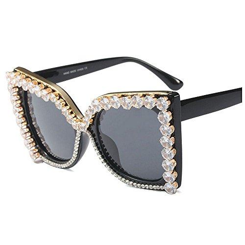 gran las de Gafas de para negro de Gafas de UV de mujeres Gafas sol de sol de color mujer tamaño sol Gafas de cristal conducción de v en sol disponibles Lady de lujo de protección para de personalidad BBrZ7U