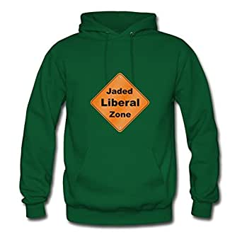 Women Jaded Liberal Zone Designed Different Cotton Green Hoodies X-large