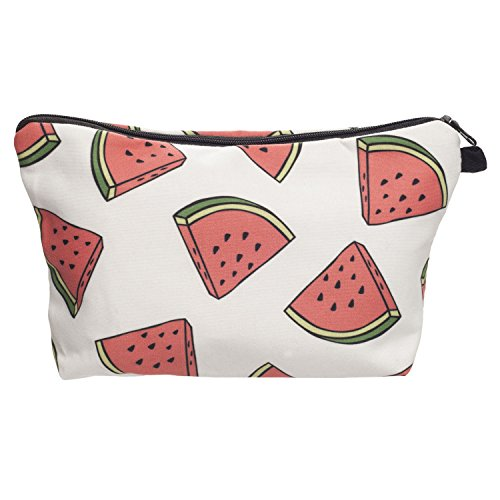 Make up Bag for Travel, GreenDimension Fashion Beauty White Watermelon Cosmetic Makeup Bag Large Capacity Polyester Wash Bag Toiletries Multi-functional Bags Pen Holder Stationery Pencil Pouch