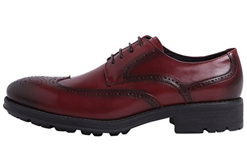Derby Classic Santimon Men Up Perforated Modern Shoes by Casual Lace Brogue Oxfords Shoes For Red Dress Pq6Sf06