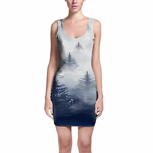 Misty Forest Bodycon Dress Kleider XS - 3XL
