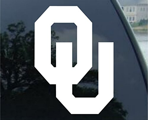 Oklahoma Sooners White Wordmark Decal