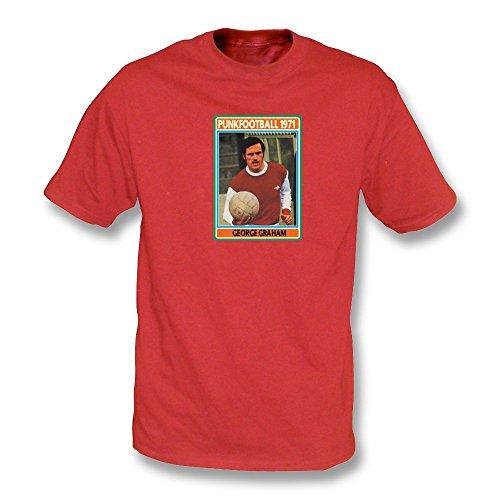 PunkFootball Weinlese-Wäschet-shirt Geordie-Legende Hughie Gallacher, Farbe- Schwarzes