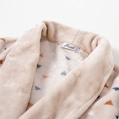 Para Ocio Albornoz Gruesa Pijamas Franela Cardigan Cinturones Batas Hogar Toalla De Bolsillos Solapa Baño Y Cálido Mujer Lujo 74wrx4qfdn