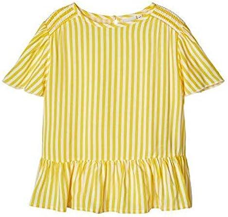 Camisa Amarilla Blanca para NIÑOS 13175635 Amarillo 13-14 años: Amazon.es: Ropa y accesorios