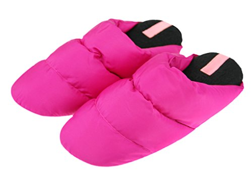 Slippers Ankle Down Boots Fakeface Mens Red Quilted Indoor Womens Winter Rose qRHcpFpwIa