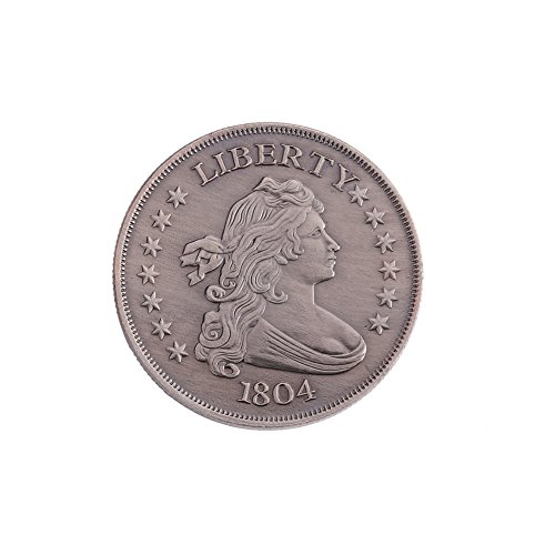 ETbotu Collecting Copper Crafts Coin 1804 American Liberty Statue Pattern Coin Foreign Commemorative Coin Gun Black