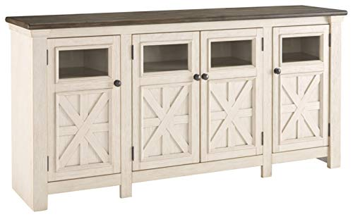 Signature Design by Ashley Bolanburg Extra Large TV Stand Two-tone