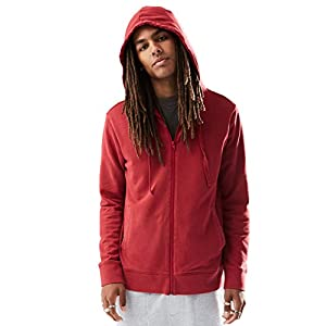 Rebel Canyon Young Men's Full Zip Washed Hoodie Sweatshirt Top Medium Red