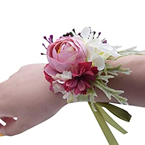 Creative Artificial Bridesmaid Sisters Hand Flowers Bride Wedding Decoration Corsage for Wedding Supplies Fake Flowers 7C2003 96