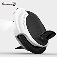 """16""""Electric Unicycle with LED Firewheel R5(f260-lite) 260WH KM–White"""